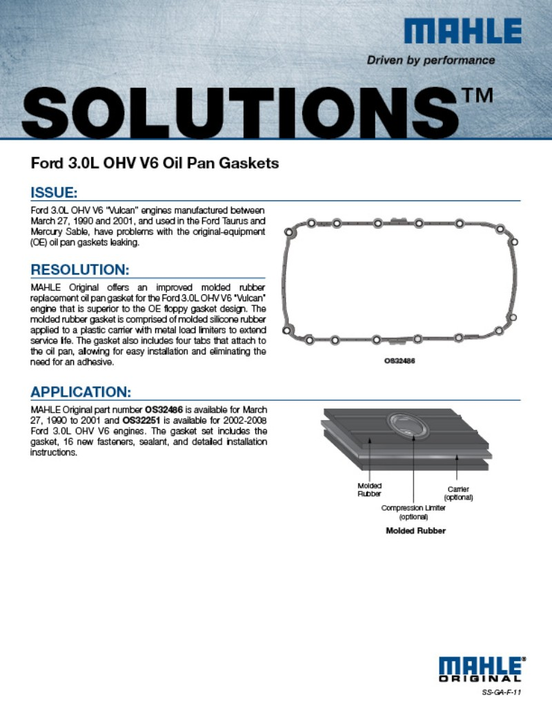 MAHLE Aftermarket North America   Gasket Solutions
