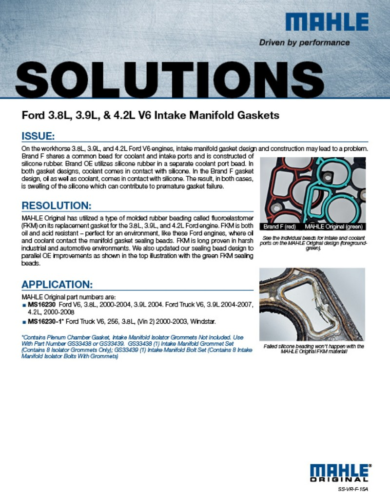 MAHLE Aftermarket North America | Gasket Solutions on